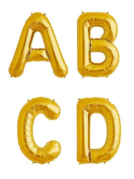 Letter ballonnen goud 36 centimeter