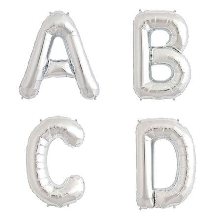 letter ballonnen zilver
