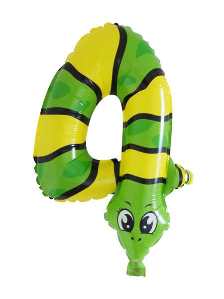 cijfer ballonnen dieren cijfer 4