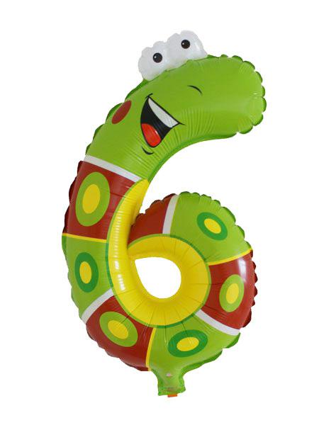cijfer ballonnen dieren cijfer 6