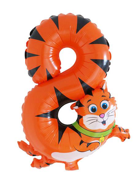 cijfer ballonnen dieren cijfer 8