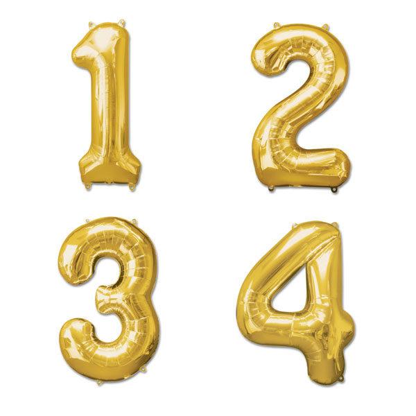 cijfer ballonnen goud 36cm