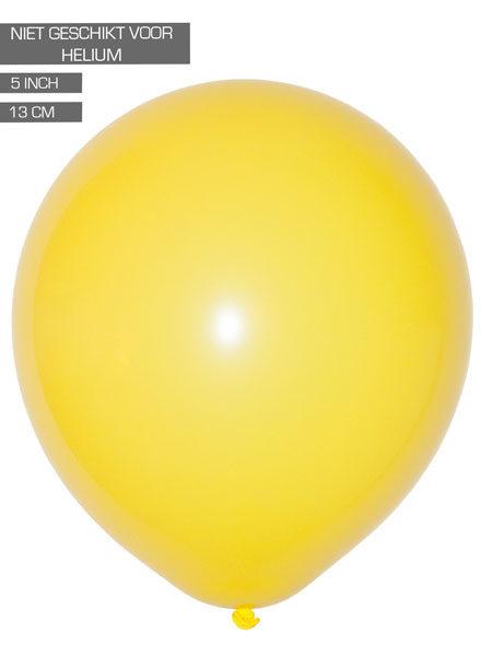 gele ballonnen 13cm