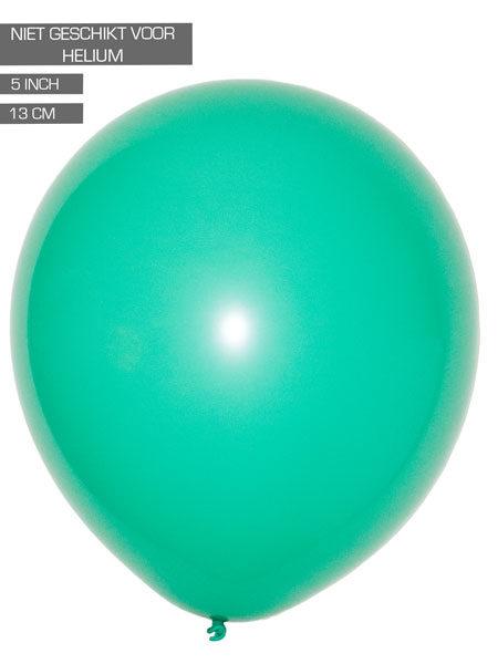 mint groene ballonnen 13cm