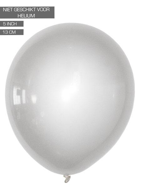 zilveren ballonnen 13cm