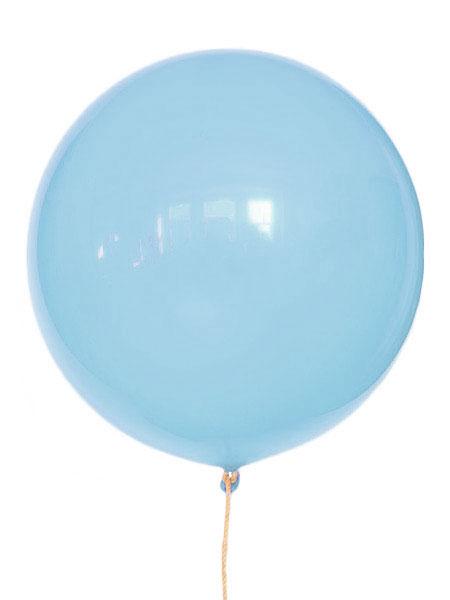 grote lichtblauwe ballonnen