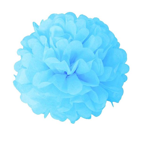 Pompom lichtblauw