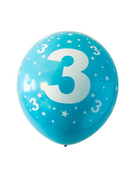 Ballonnen met een opdruk van een 3