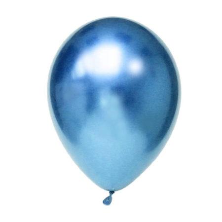 ballonnen blauw chroom