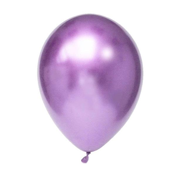 ballonnen paars chrome