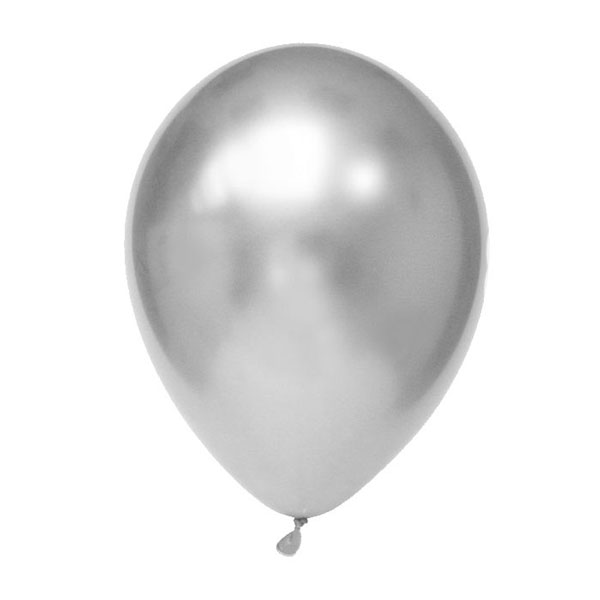 ballonnen zilver chrome