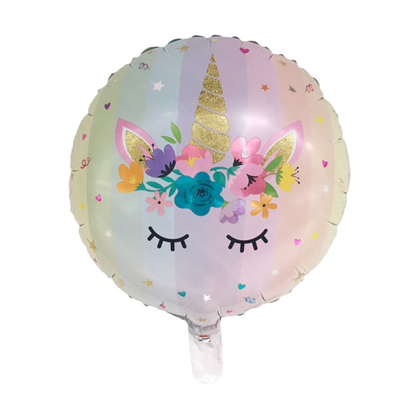 Folieballon unicorn rond