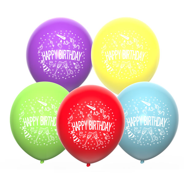 Happy birthday set a ballonnen