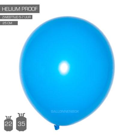 blauwe ballonnen 25cm