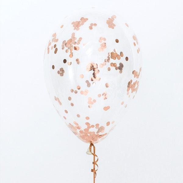 confetti ballonnen rose goud