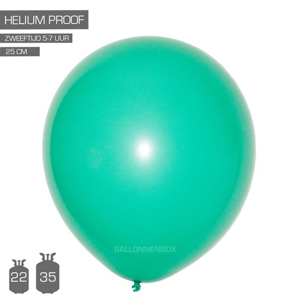 groene ballonnen mint 25cm
