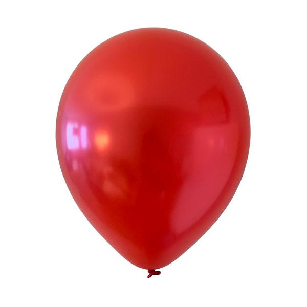 rode metallic ballonnen