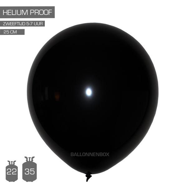 zwarte ballonnen 25cm