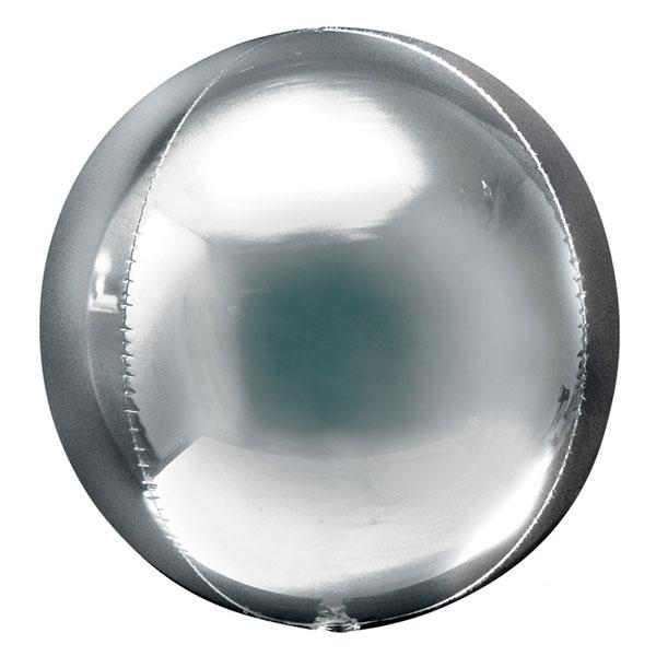 Orbz ballon zilver