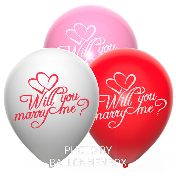 will you marry me ballonnen