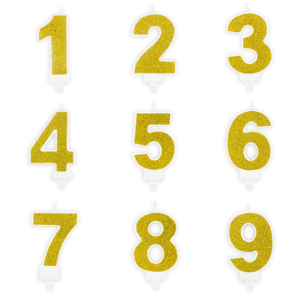 Cijferkaarsjes goud