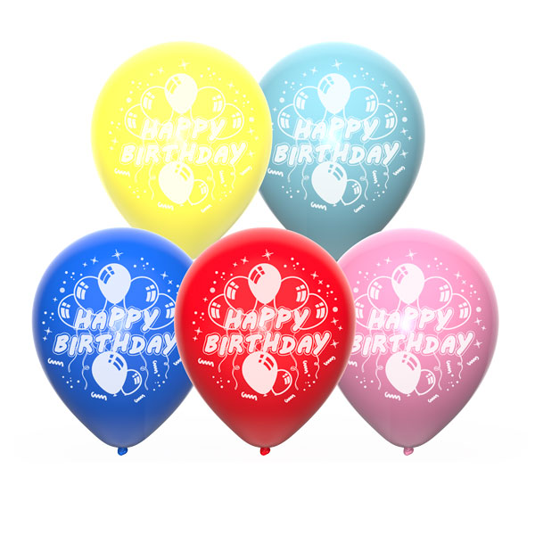 happy birthday set b ballonnen