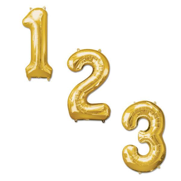 Cijfer ballonnen goud 100cm