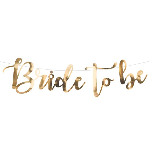 bride to be slinger goud