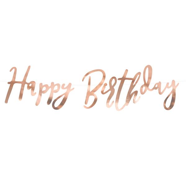 happy birthday slinger rose goud