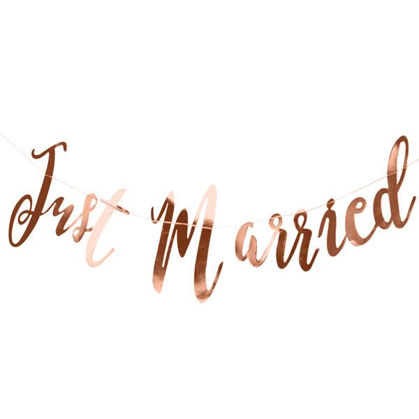 just married slinger rose goud