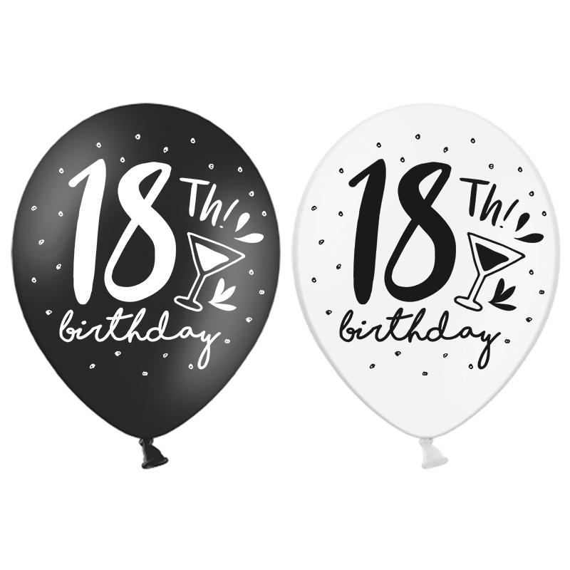 latex ballonnen 18th birthday