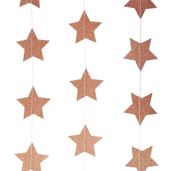 sterren slinger rose goud