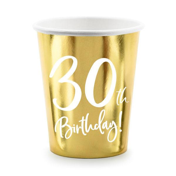 bekertjes 30th birthday goud