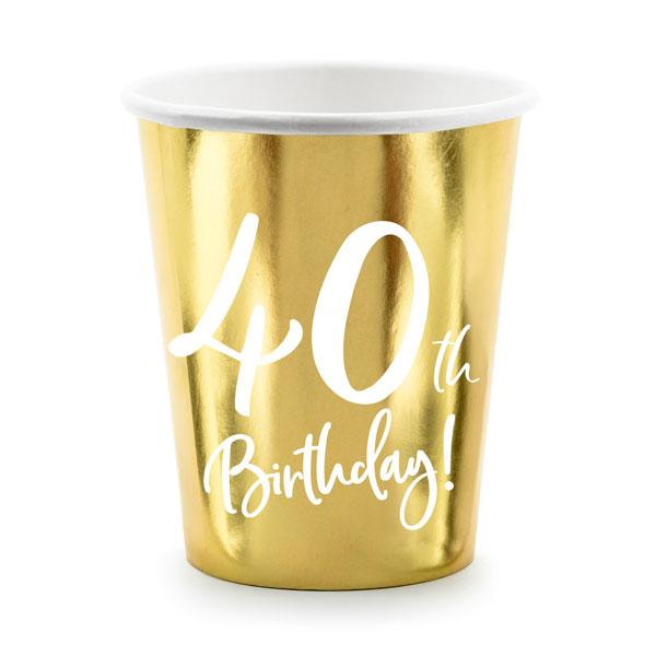bekertjes 40th birthday goud