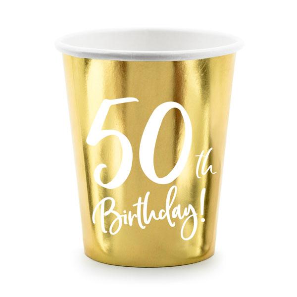 bekertjes 50th birthday goud