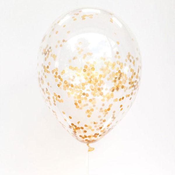 confetti ballonnen goud