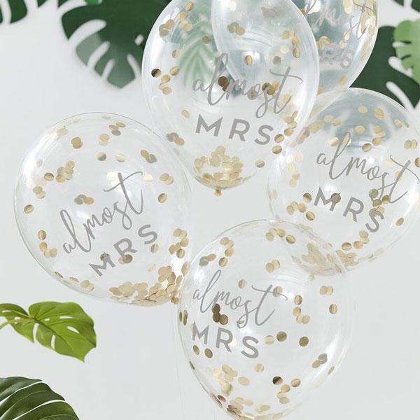 almost mrs confetti ballonnen
