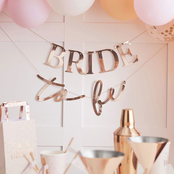 bride to be slinger rose goud