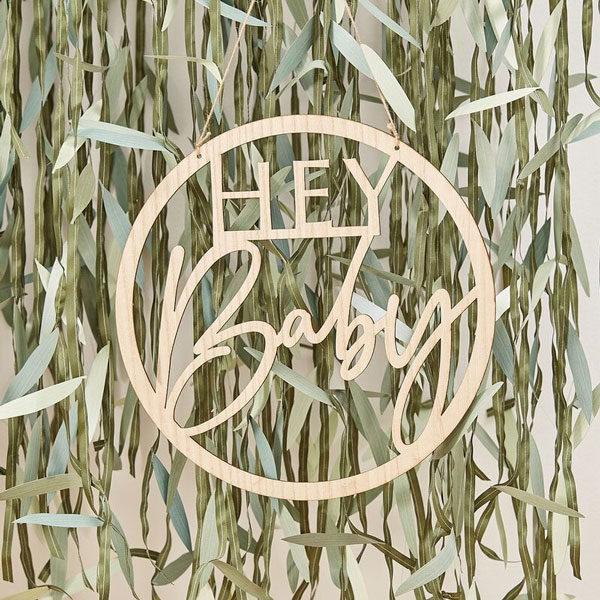 houten hanger botanical babyshower