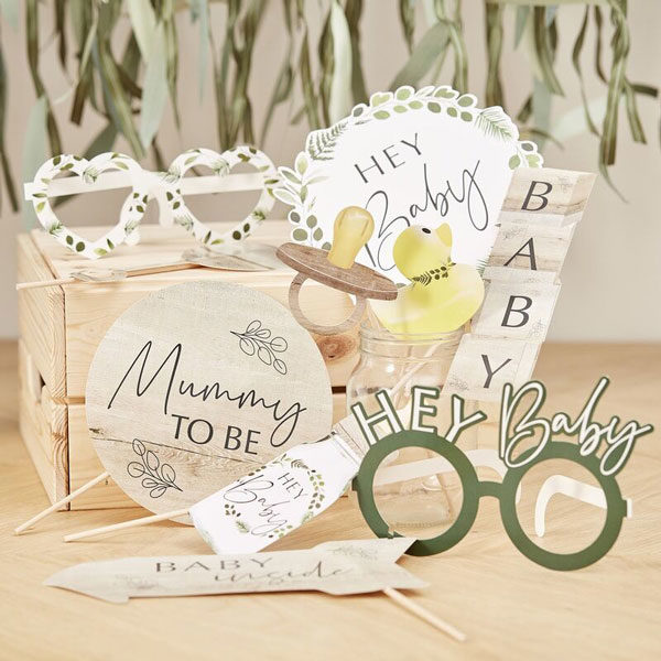 photo props botanical babyshower