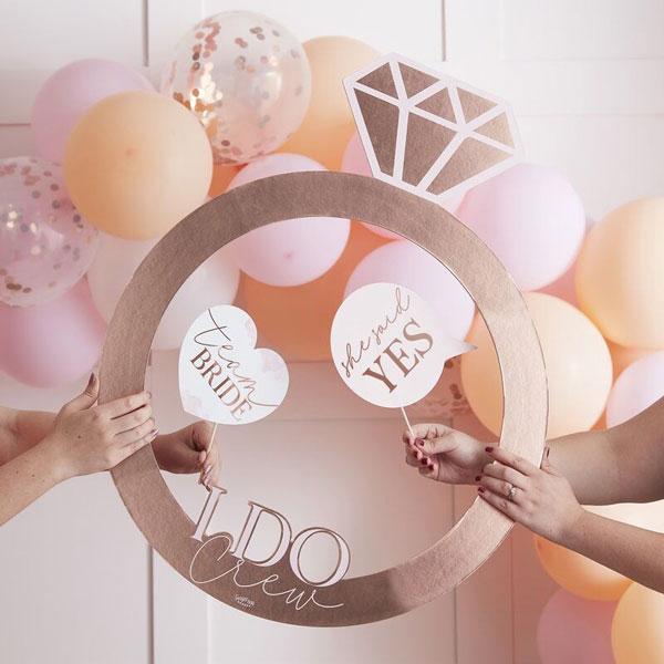 photobooth frame blush hen party