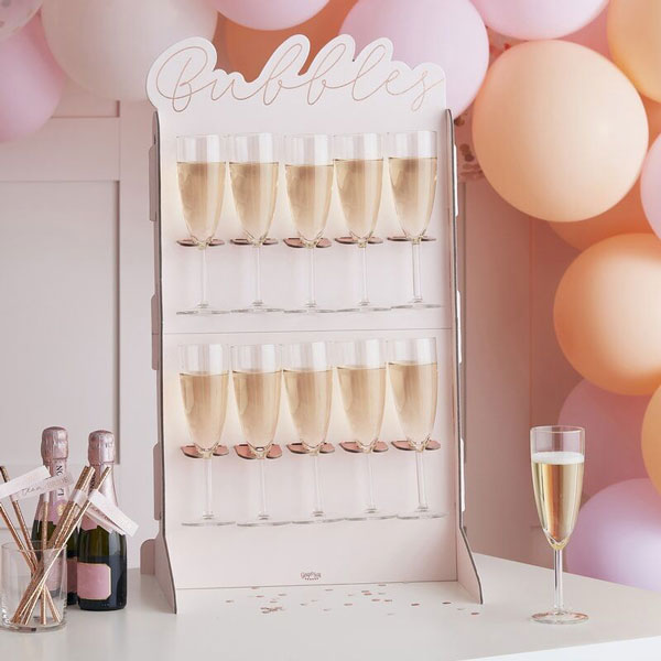 prosecco wall blush hen party