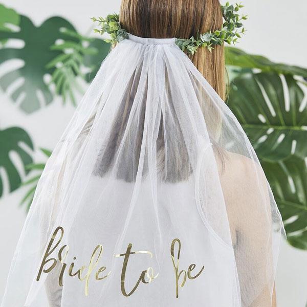 sluier bride to be botanical hen party