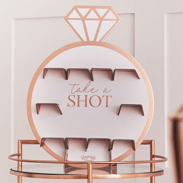 take a shot wall blush hen party