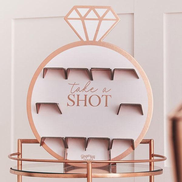 take a shot wall blush hen party