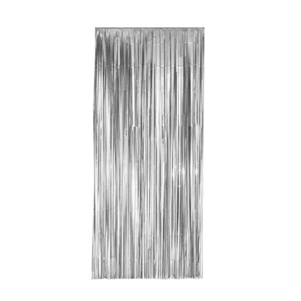 feestgordijn zilver