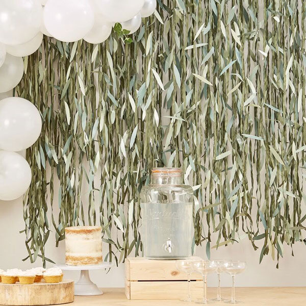 backdrop bladeren botanical babyshower