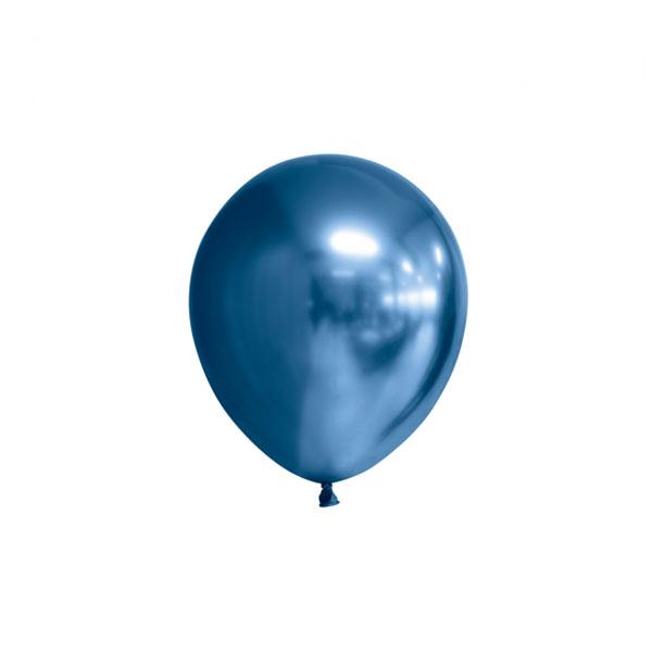 chrome blauwe ballonnen 13cm