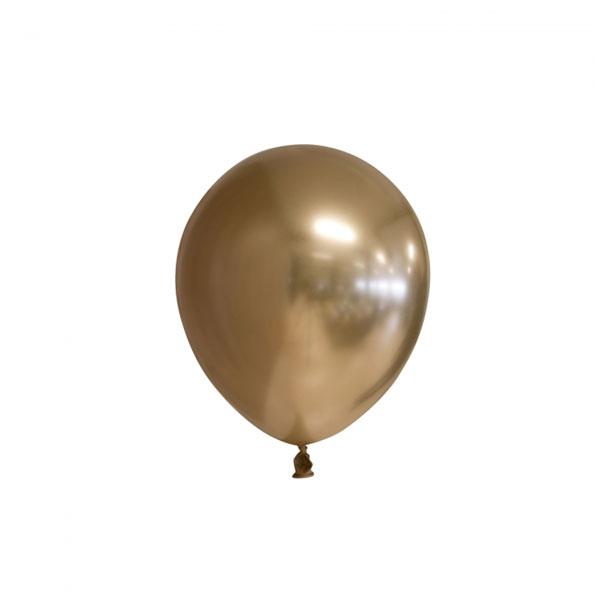 chrome gouden ballonnen 13cm