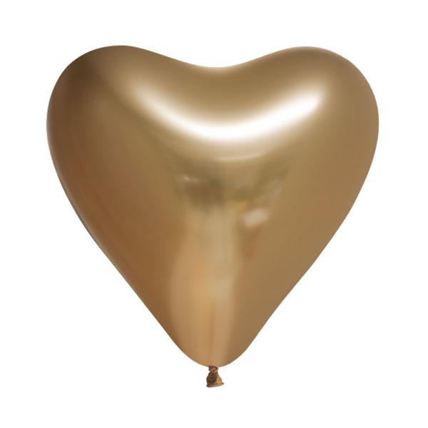 chrome gouden hartjes ballonnen